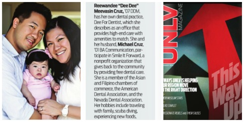 For Mike and Dee Dee, owners of Dee for Dentist, UNLV is a family affair. Check out the summer issue of UNLV Magazine. #Vegas #dentist #excellence #entrepreneurs #UNLVAlumni