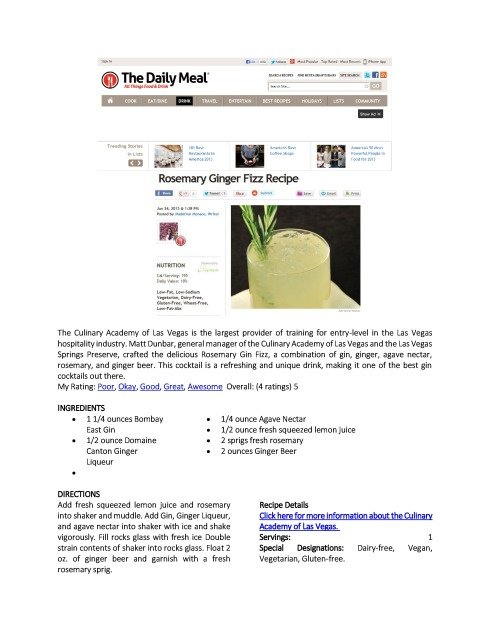The Culinary Academy of Las Vegas Rosemary Fizz-page-0