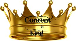 Contnet Is King Gold Crown-