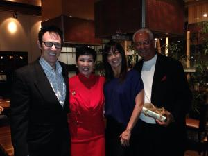 Lance Burton, Sue Kim-Bonifazio, daughter Marissa and Anthony Bonifazio Sr.
