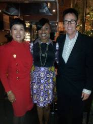 The legendary Sue Kim, Adrienne Hester and Master Magician Lance Burton
